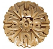 """7"""" Extra Large Round Wood Rosette (CRV5166)"""
