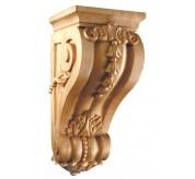 "15"" Large Bellflower Wood Corbel (CRV5218)"