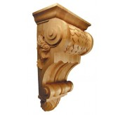 "24"" Extra Large Imbricated Wood Corbel (CRV5226)"