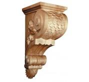 """25"""" Large Imbricated Bracket Wood Corbel (CRV5230)"""