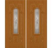 Smooth-Pro/ Design-Pro 8 Panel Fiberglass Exterior Double Door (632)