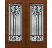 Smooth-Pro/ Design-Pro Full Glass Fiberglass Exterior Double Door (686)