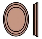 Wood Oval Rosette (7037)