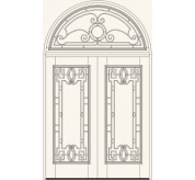 Manorgate Collection Wrought Iron Exterior Door (758)