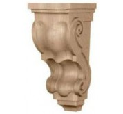 "10"" Medium Traditional Wood Corbel (CORTT2)"