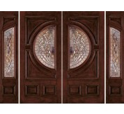 Classic Collection Fiberglass/ Wood Mahogany Exterior Door (A250)