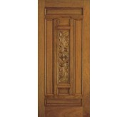 Classic Collection 7 Panel Fiberglass Mahogany Exterior Door (A302)