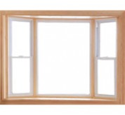 70 Series Vinyl Double-Hung Bay Window with picture window