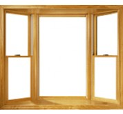 400 Series Vinyl Clad Double-Hung Bay Window with Picture Window