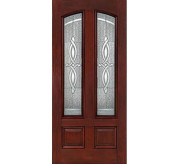 Classic-Craft 4 Panel Fiberglass Mahogany Exterior Door (CCM503)