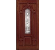 Classic-Craft 8 Panel Fiberglass Mahogany Exterior Door (CCM803)