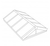 Classic Double Pitched Pyramid Structural Skylight (CDP)