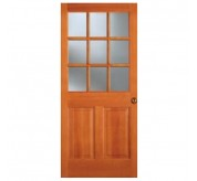 F-944 2 Panel 9 Lite Fir French Door
