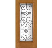 Fiber-Classic 1 Panel Fiberglass Oak Exterior Door (FC113)