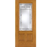 Fiber-Classic 3 Panel Fiberglass Oak Exterior Door (FC902)