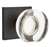 Modern Disc Crystal Privacy Door Knob