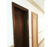 "1 PANEL SHAKER DOOR, MAHOGANY VENEER UNFINISHED 3'0""X 7'0"", 1-3/4"" THICKNESS"