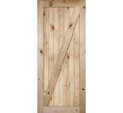 Knotty Alder Z Bar Planked Barn Door