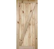 Knotty Alder Z Bar Planked Barn Door