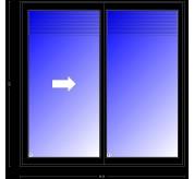 Pella Designer Series Double Sliding Door, 95.25 X 95.5, Black, Snap-In Between-The-Glass Blinds