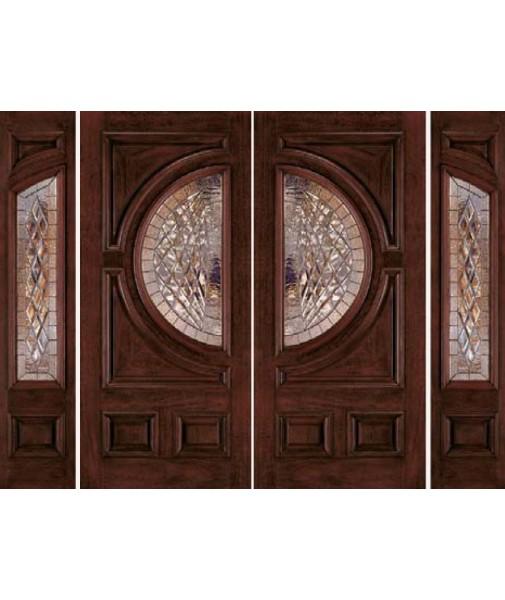 Classic Collection Fiberglass/ Wood Mahogany Exterior Door (A250)