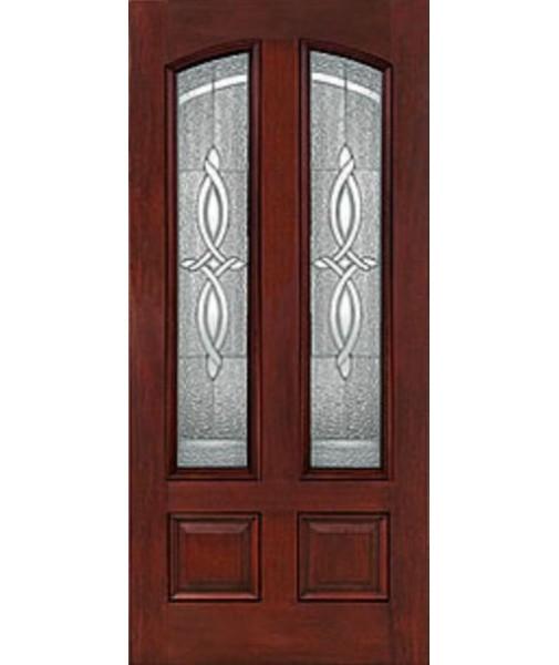 Classic Craft 4 Panel Fiberglass Mahogany Exterior Door Ccm503