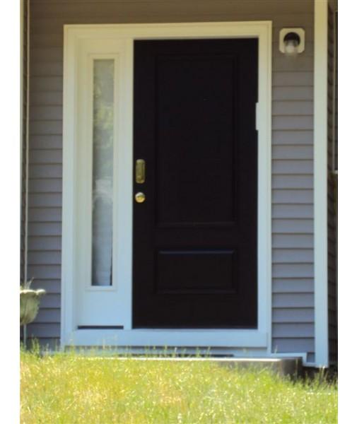 2 Panel Square Top Fiberglass Smooth Exterior Door