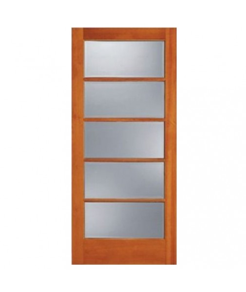 Description for 5 panel frosted glass interior door