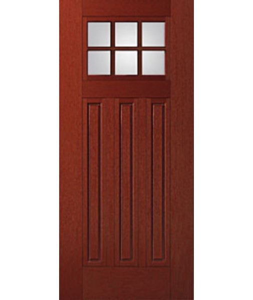 Attractive ... 3 Panel Fiberglass Mahogany Exterior Door (FIM608). Double Click On  Above Image To View Full Picture